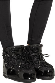 + Jimmy Choo MB Buzz embellished faux patent-leather and shell snow boots