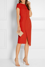 Antonio Berardi Button-embellished stretch-crepe dress