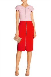 Antonio Berardi Two-tone stretch-crepe dress