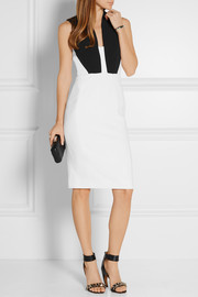 Antonio Berardi Cutout two-tone stretch-crepe dress