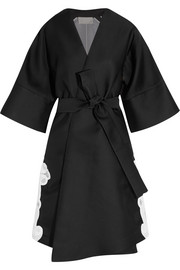 Antonio Berardi Guipure lace-appliquéd satin and organza coat