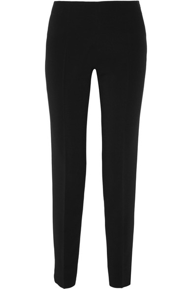 Antonio Berardi - Stretch-crepe Tapered Pants - Black