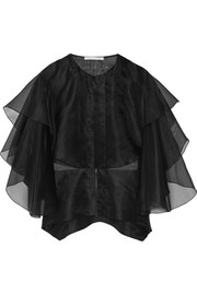 Layered silk-organza top