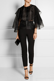 Antonio Berardi Layered silk-organza top