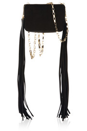 Tamara Mellon Playboy mini fringed suede shoulder bag