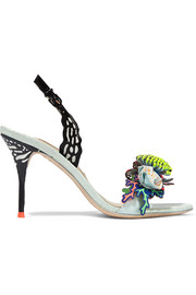 Sophia Webster Underwater Lilico appliquéd leather slingback sandals