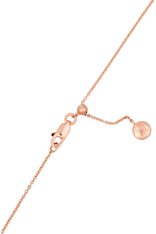 Monica Vinader Skinny Curve rose gold-plated diamond necklace