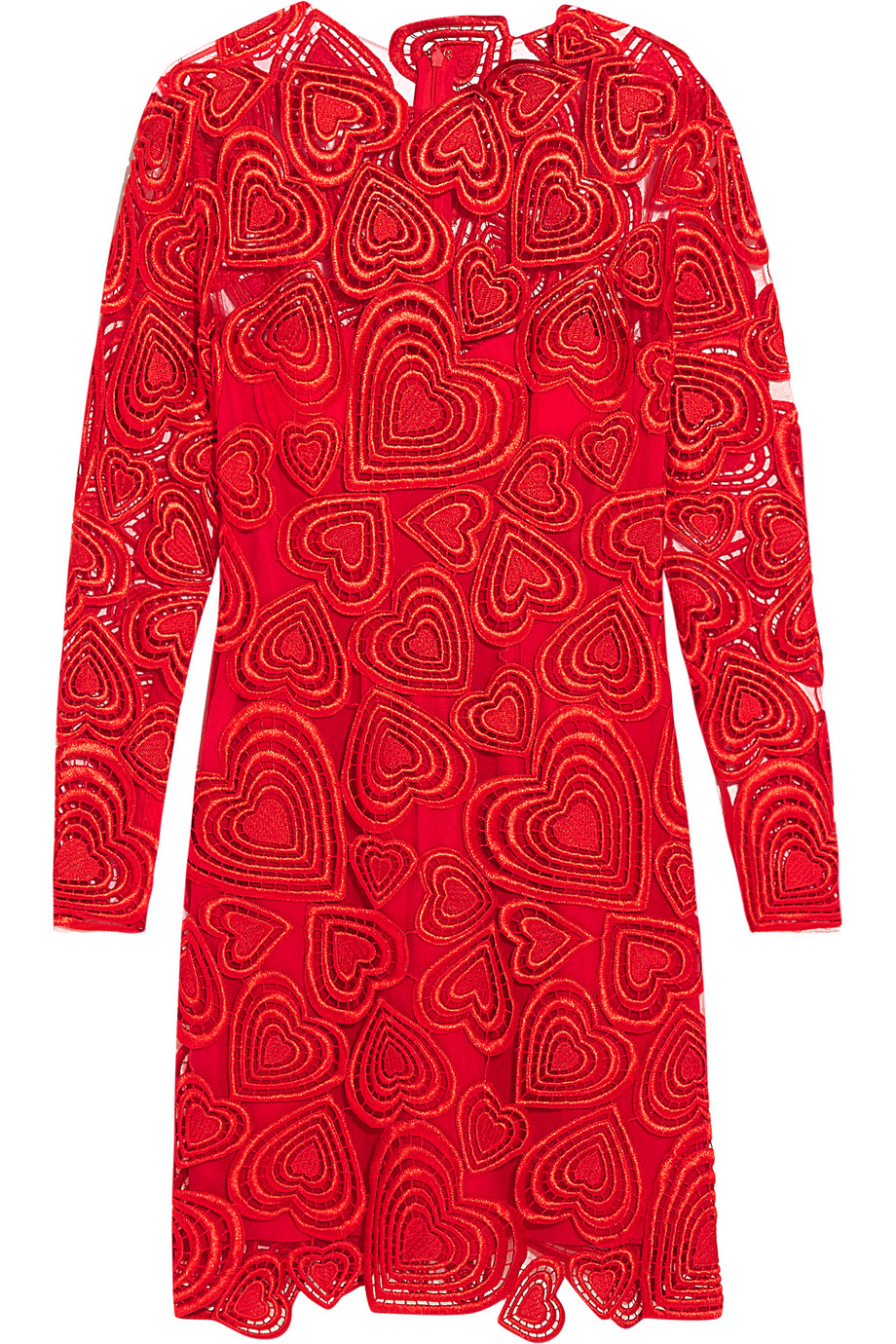 Lara Guipure Lace Mini Dress, Christopher Kane, Red, Women's, Size: 8
