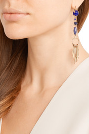 Jacques gold-tone multi-stone earrings