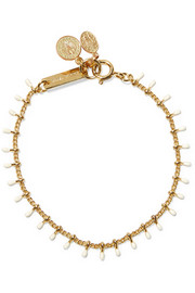 Casablanca gold-tone resin bracelet