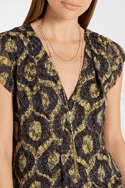 Isabel Marant Set of two gold-plated resin necklaces