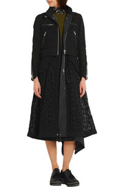 Sacai Broderie anglaise cotton coat