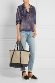 See by Chloé Textured leather-trimmed canvas tote