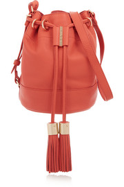 Vicki medium textured-leather bucket bag