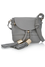 Vicki mini textured-leather shoulder bag