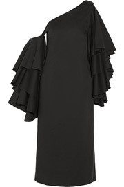 Rosie Assoulin Bidi Bidi Bom Bom convertible one-shoulder ruffled cotton-twill dress