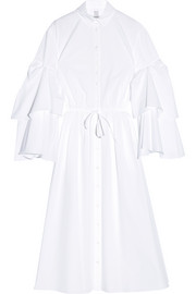 Rosie Assoulin Fiesta ruffled cotton-poplin shirt dress