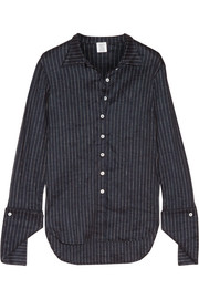 Rosie Assoulin Pinstriped stretch linen-blend shirt