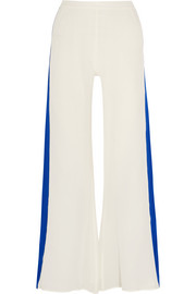 Alcyone silk crepe de chine wide-leg pants