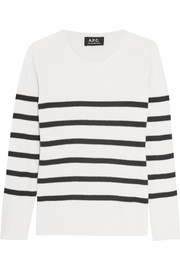 Striped silk sweater