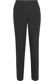 Stretch-piqué slim-leg pants