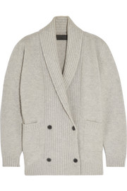 The Elder Statesman Double-breasted cashmere-blend cardigan