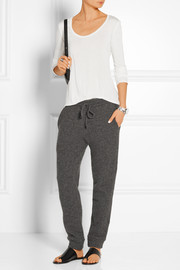 The Elder Statesman Stretch cashmere-blend track pants