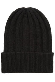 Bunny Echo short ribbed cashmere beanie