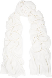 The Elder Statesman Cashmere and silk-blend scarf
