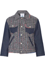 Tweed and denim jacket