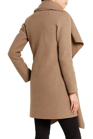 harris wharf london shawl collar wool coat net a porter com. Black Bedroom Furniture Sets. Home Design Ideas