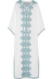 Talitha Embroidered cotton-blend maxi dress