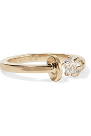 Gold-plated cubic zirconia ring
