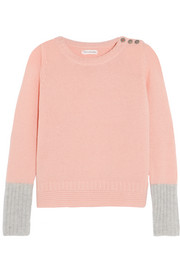 Two-tone cashmere sweater
