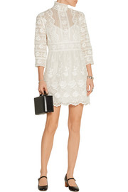 Marc Jacobs Broderie anglaise cotton-voile mini dress