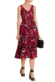 Marc Jacobs Floral-print silk-faille midi dress