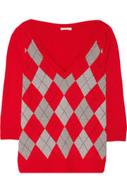 Argyle wool sweater