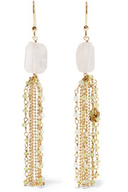 Etrusca gold-tone quartz earrings