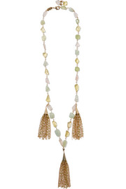 Pastelli gold-tone multi-stone necklace