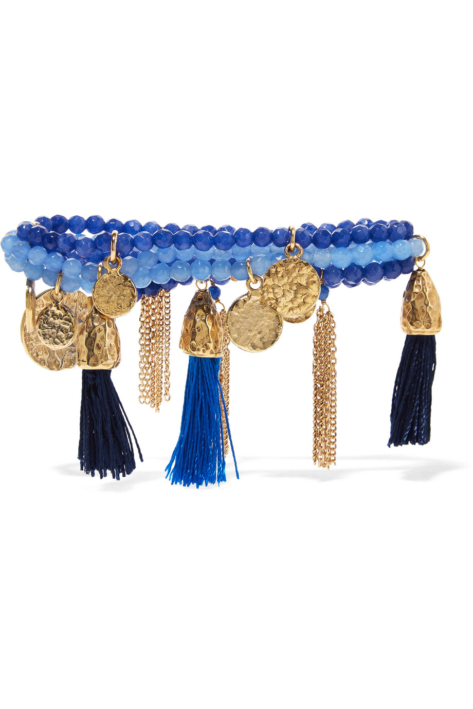 Rosantica Kilimangiaro Tasseled Gold-Tone Quartz Bracelet, Blue, Women's