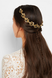 Grace gold-tone onyx headband