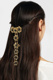 Grace gold-tone onyx hairclip