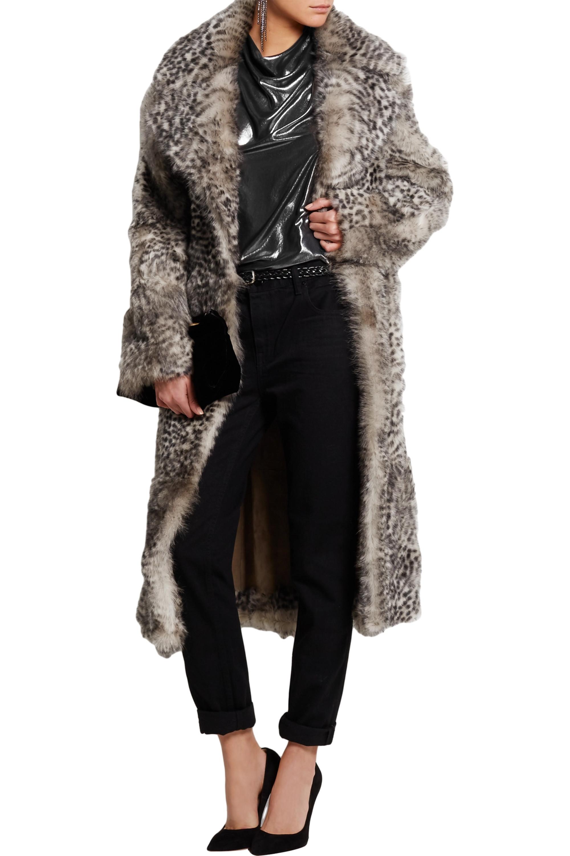 Topshop Unique D'Arblay cheetah-print shearling coat