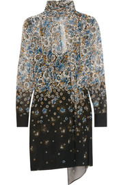 Livonia printed silk-georgette mini dress