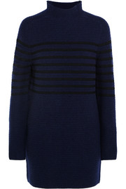 Broadwick striped wool and cashmere-blend mini dress