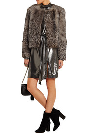 D'Arblay Chubby animal-print shearling jacket