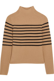 Broadwick striped wool and cashmere-blend sweater
