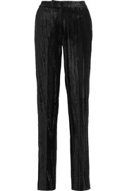 Mayall crushed velvet straight-leg pants