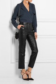 Romilly leather tapered pants