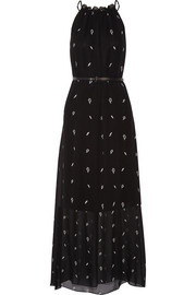 Karl Lagerfeld Printed chiffon maxi dress